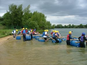 Outdoor activities - Somerset - Raft building
