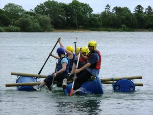 Raft building - Somerset outdoor activities