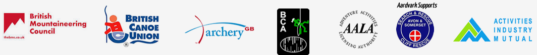 Affiliated with: AALA, British Mountaineering Council, BCA, British Canoe Union