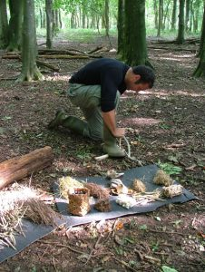 Bushcraft in woodland outdoor-activities-Somerset