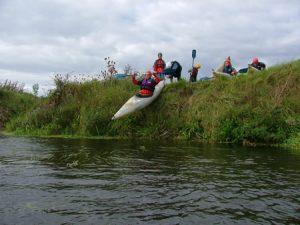 Kayaking - Entering the water